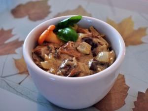 sos grzybowo- śmietanowy